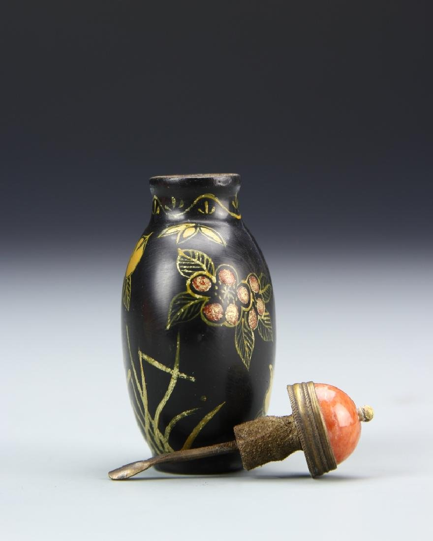 Chinese Peking Glass Snuff Bottle - 3