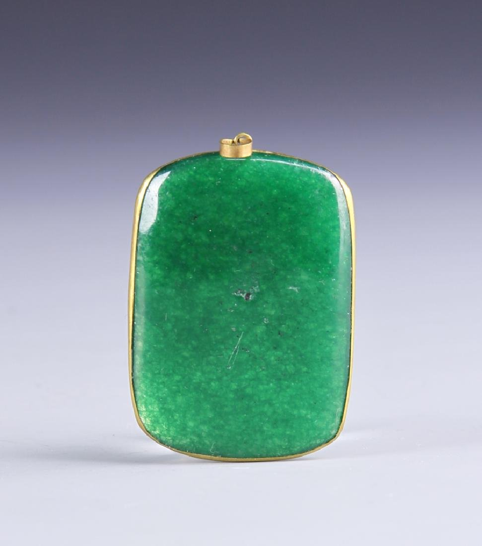 Chinese Jadeite and Silver Pendant
