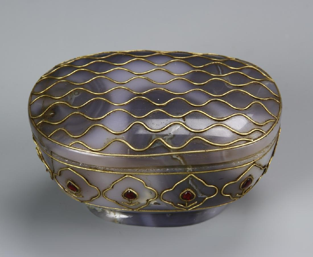 Indian Celadon Jade Jewelry Box With Lid