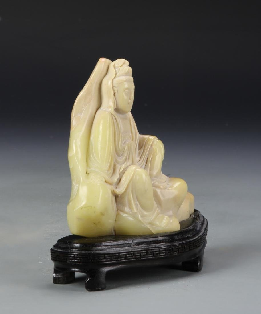 Two Chinese Stone Statue Figures - 3