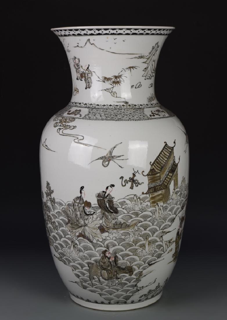 Chinese Famille Rose Vase - 2