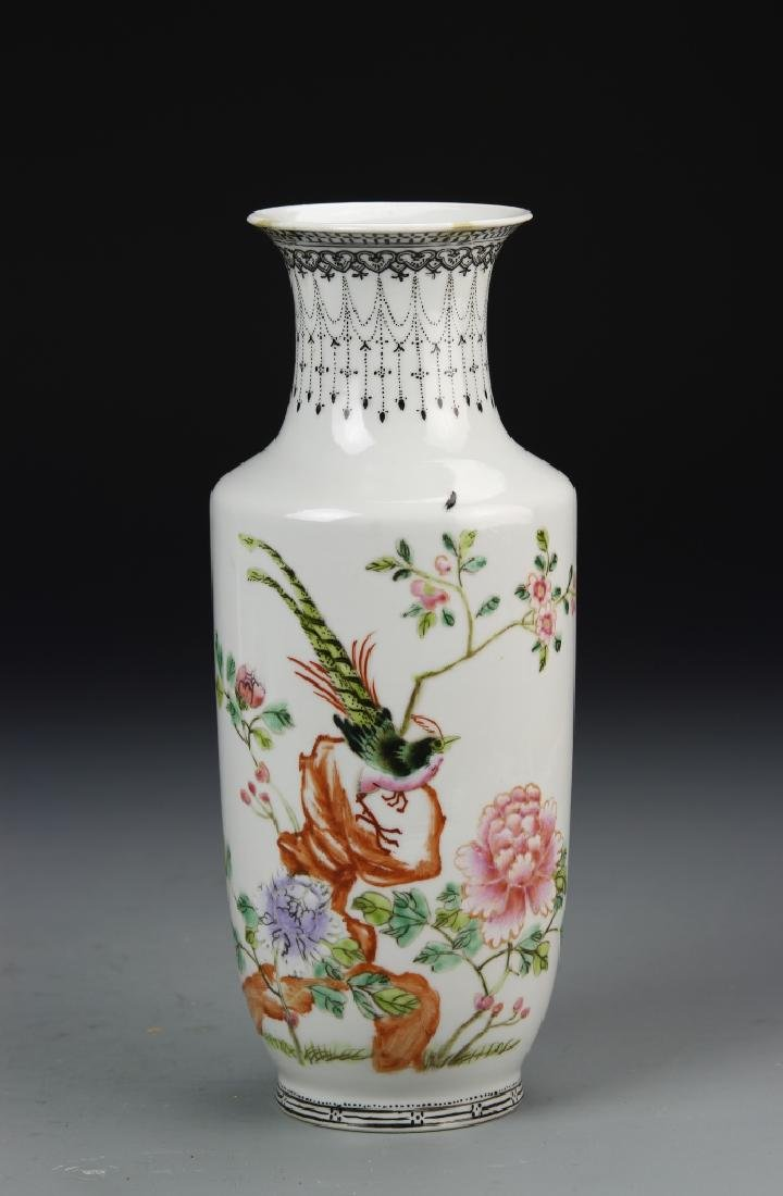 Chinese Familie Rose Vase