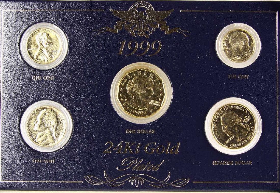 1999 24 Carat Gold Plated United States Coin Set