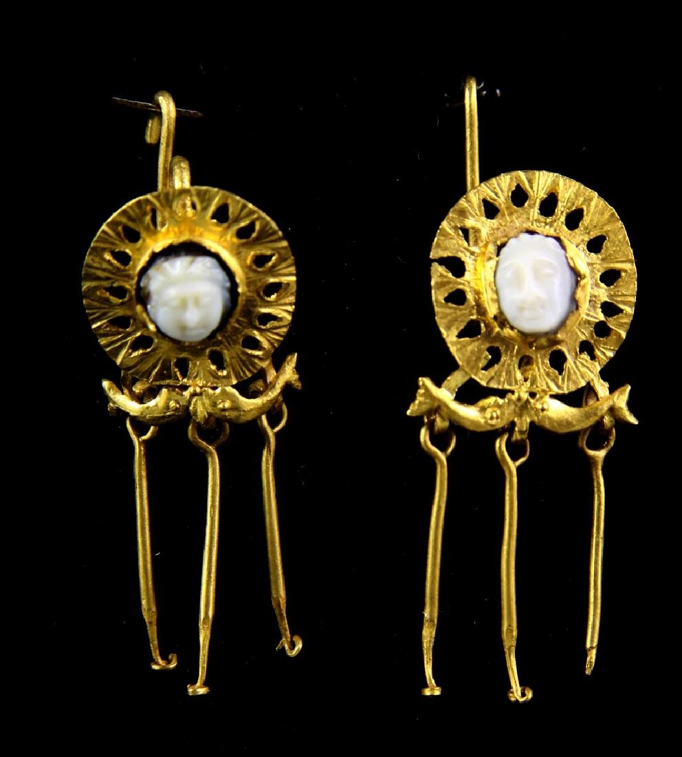 Pair of Roman Ancient Gold Earrings