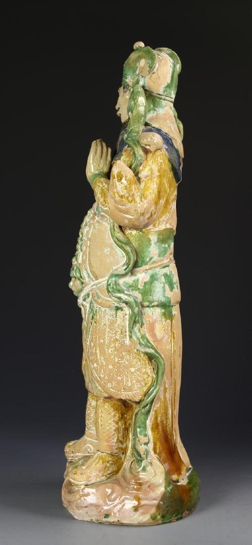 Chinese Sancai Pottery Figure - 3