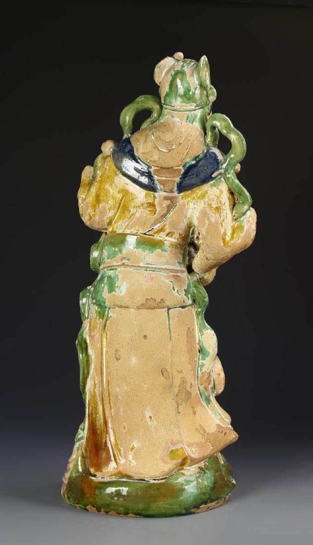 Chinese Sancai Pottery Figure - 4