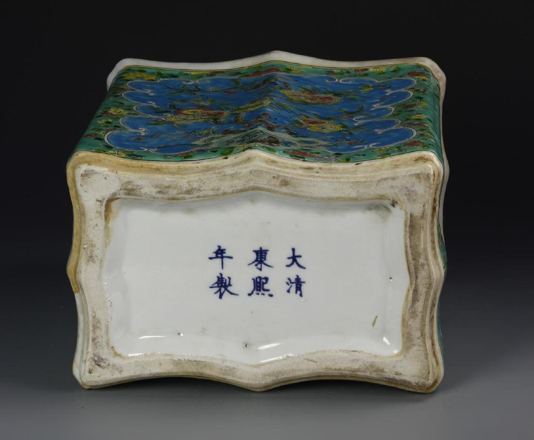 Chinese Famille Rose Tea Caddy - 3