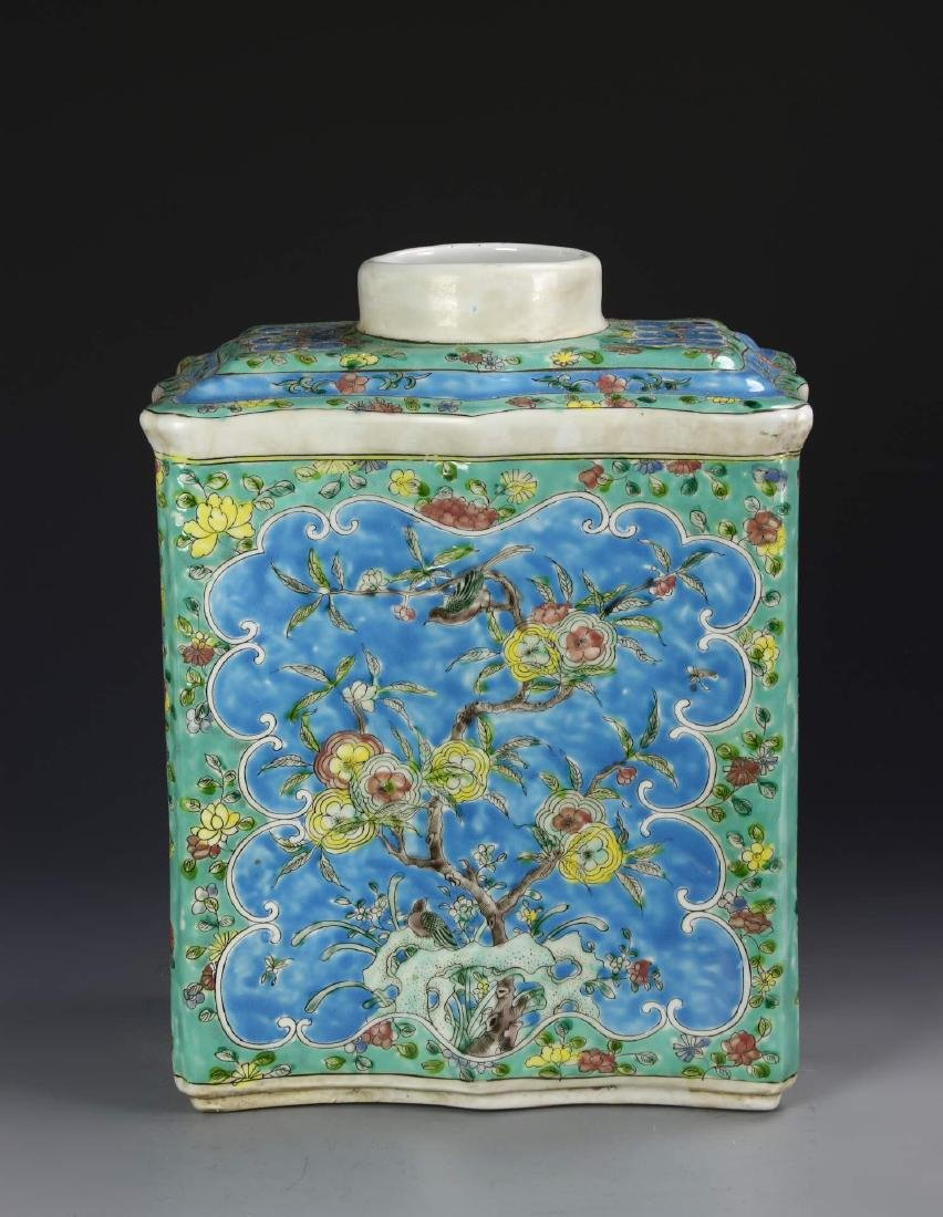 Chinese Famille Rose Tea Caddy - 5