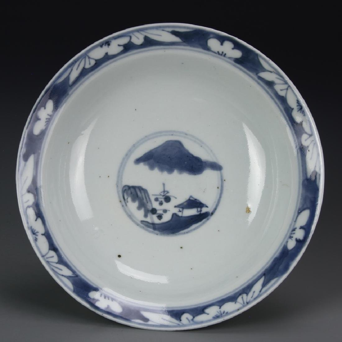 Chinese Export Blue and White Bowl - 3