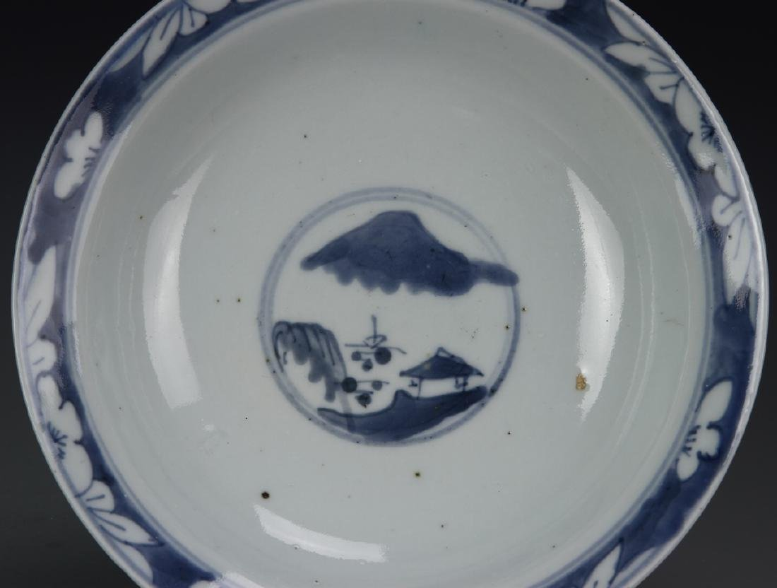 Chinese Export Blue and White Bowl - 4