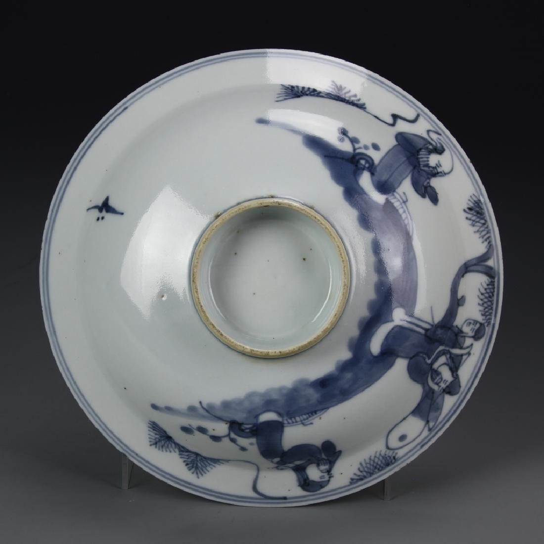 Chinese Export Blue and White Bowl - 5