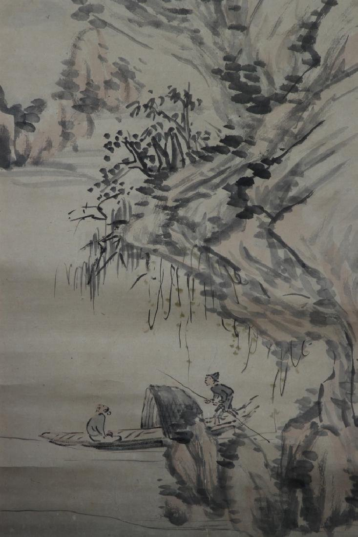 Japanese Scroll Painting of Landscape - 3