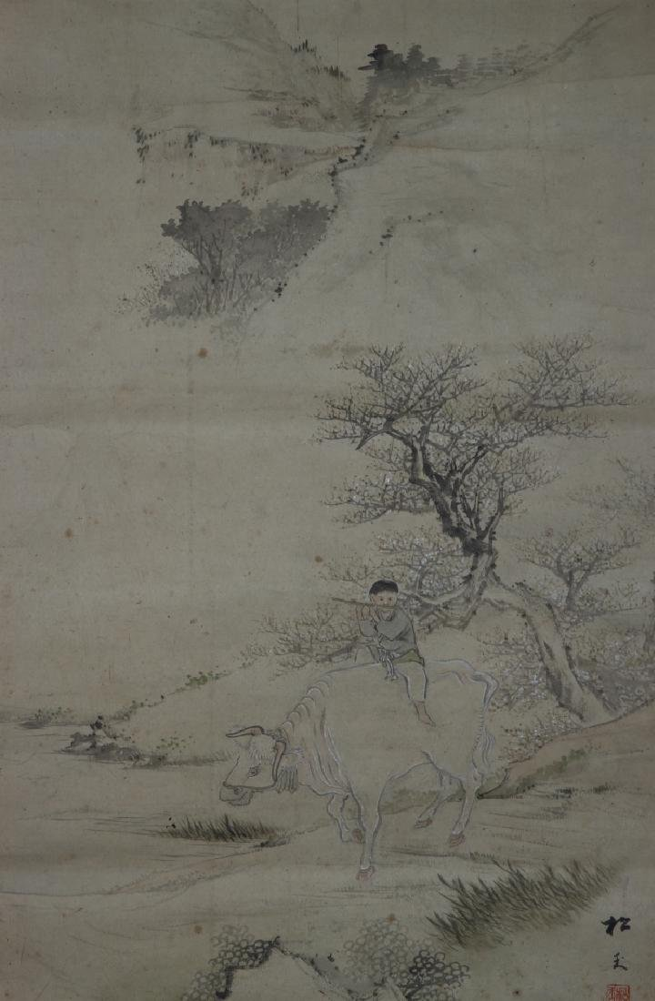 Japanese Scroll Painting of Landscape - 2