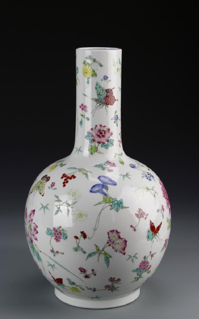 Chinese Famille Rose Vase - 3