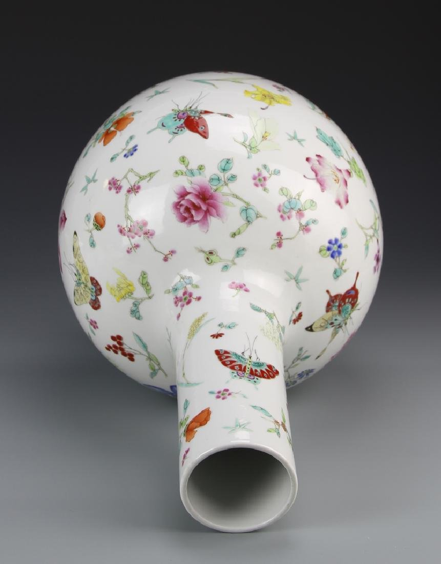 Chinese Famille Rose Vase - 4