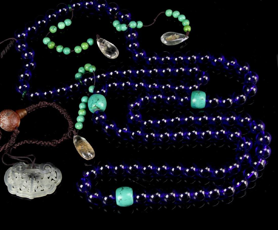 Chinese Peking Glass Beaded Court Necklace - 2