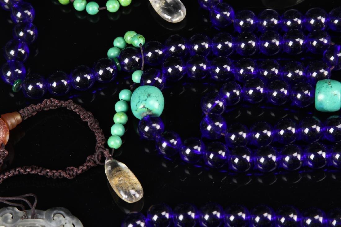 Chinese Peking Glass Beaded Court Necklace - 3