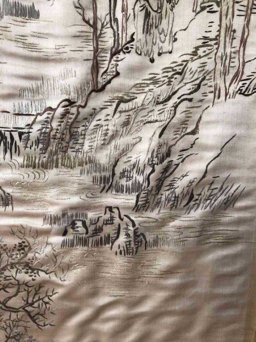 Framed Chinese Silk Embroidery Art - 3