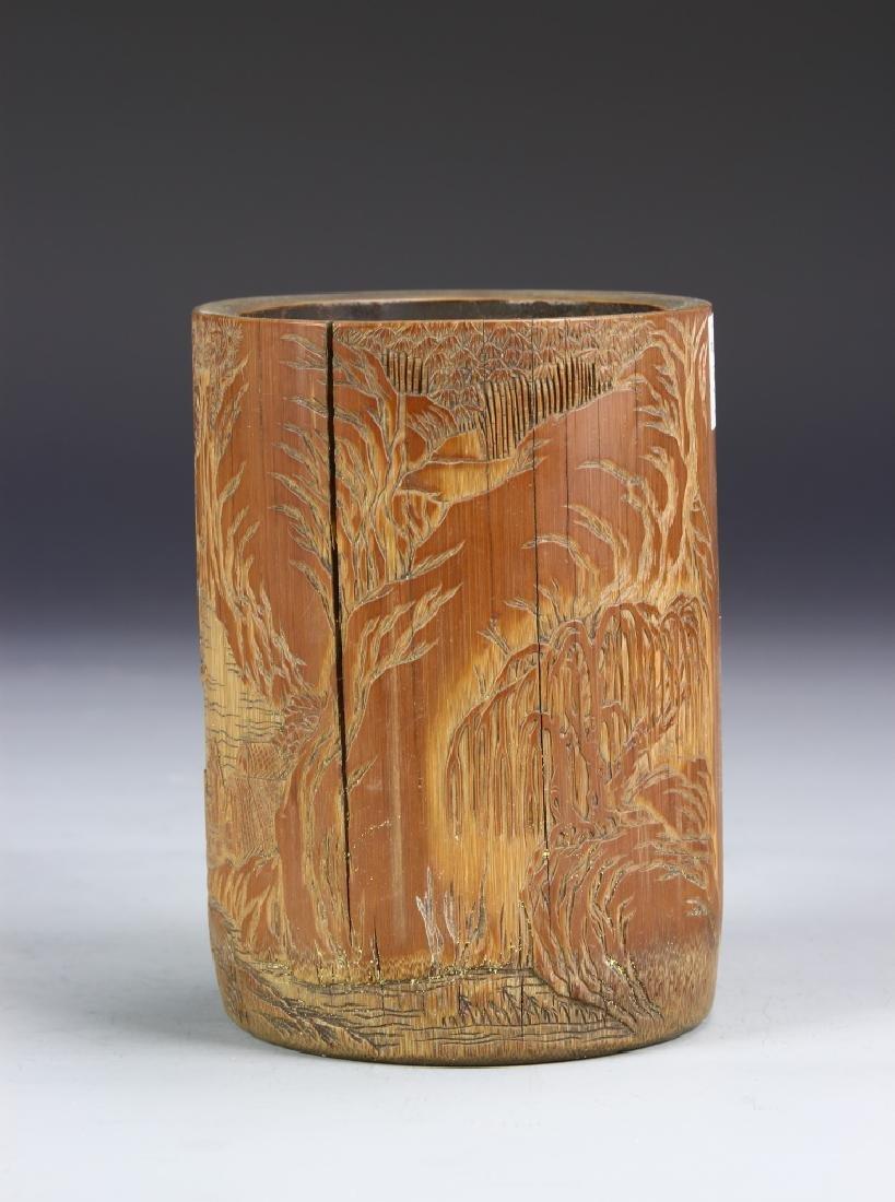 Chinese Bamboo Brush Pot - 5