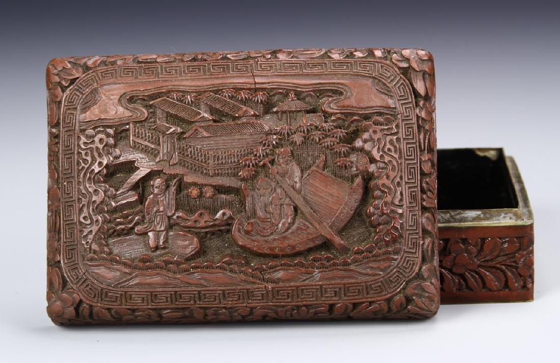 Chinese 19th Century Cinnabar Ink Box - 2