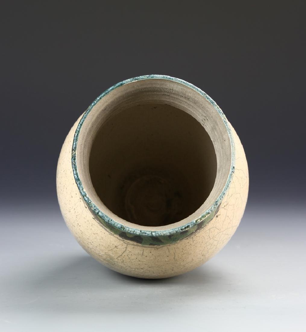 Pottery Jar signed on base - 3