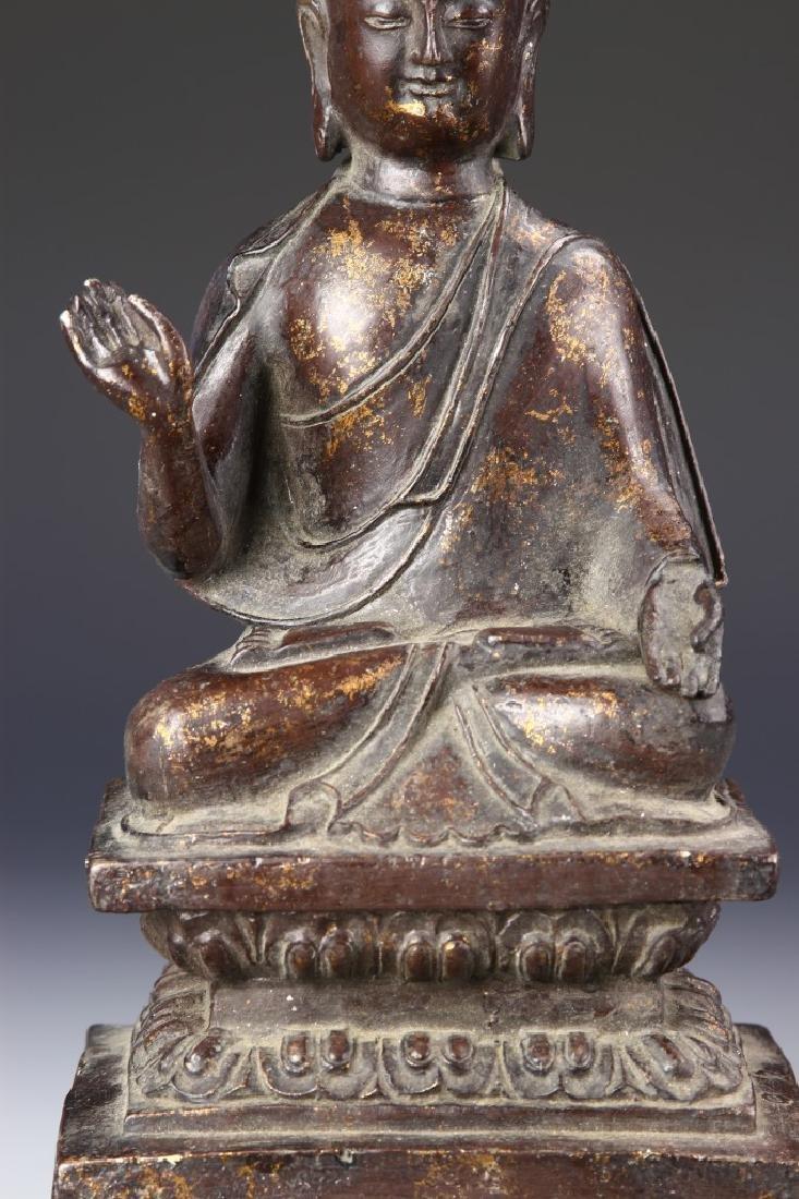 Chinese Antique Bronze Buddha - 2