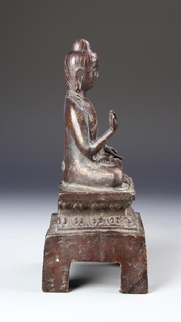 Chinese Antique Bronze Buddha - 3