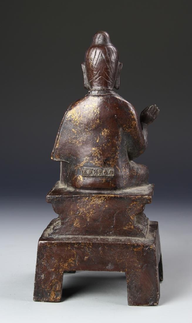 Chinese Antique Bronze Buddha - 4