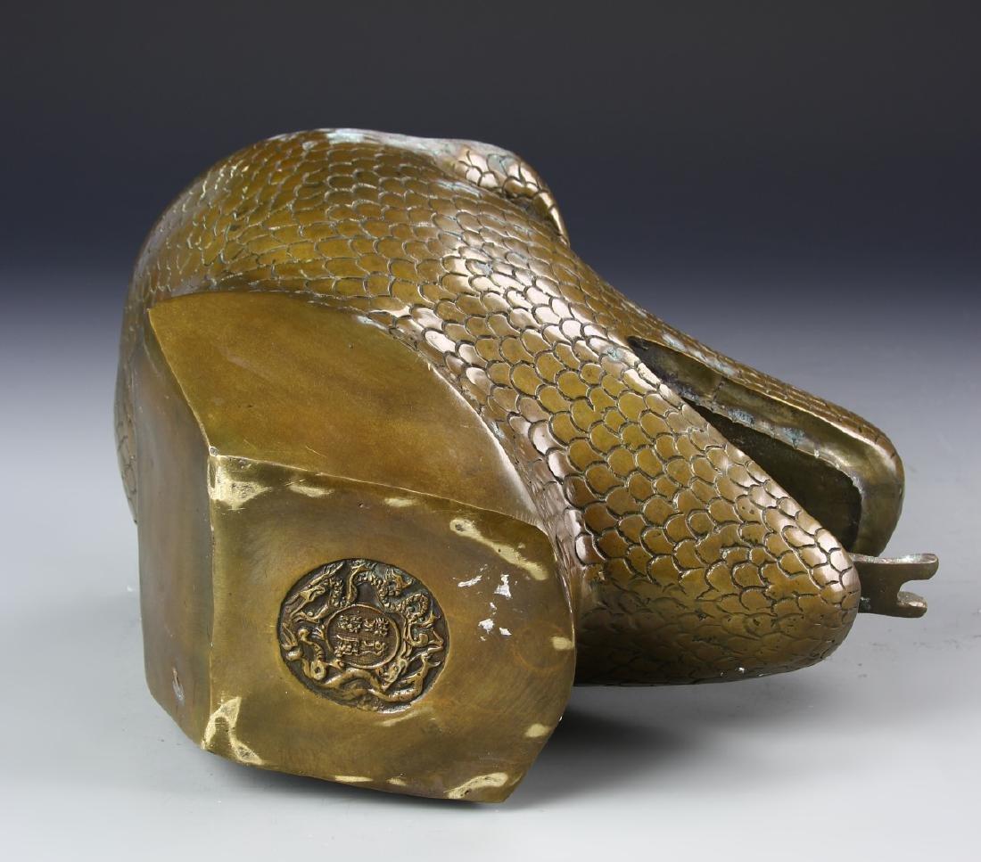 Chinese Bronze Snake Head - 3