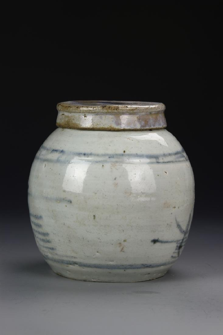Blue And White Jar - 3