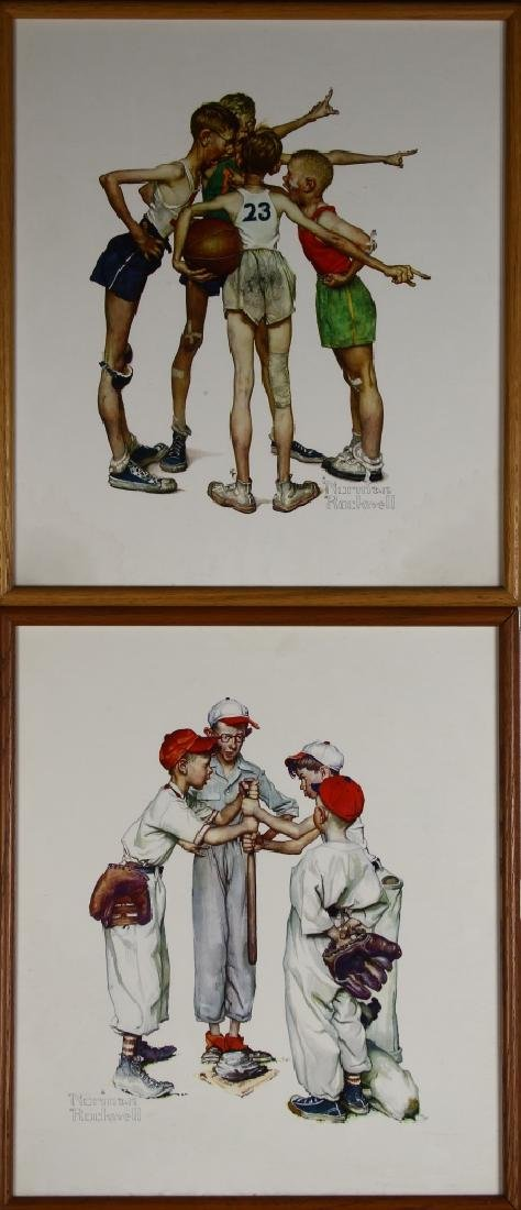 Two Norman Rockwell Framed Prints