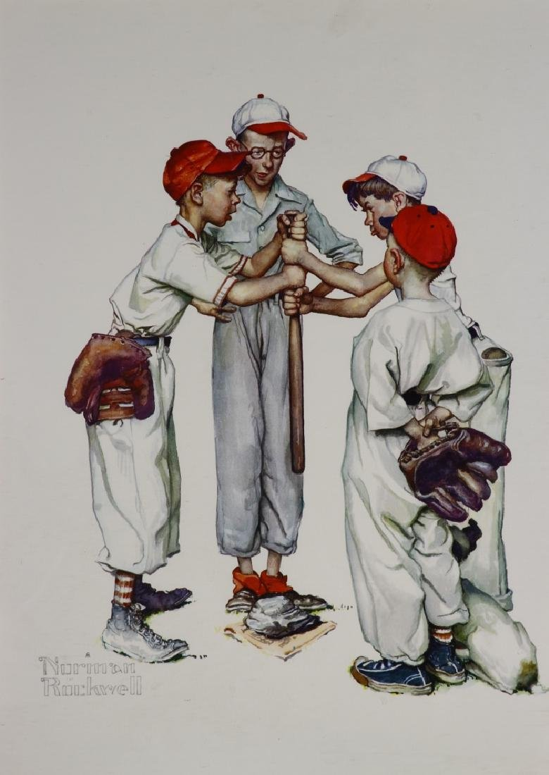 Two Norman Rockwell Framed Prints - 3