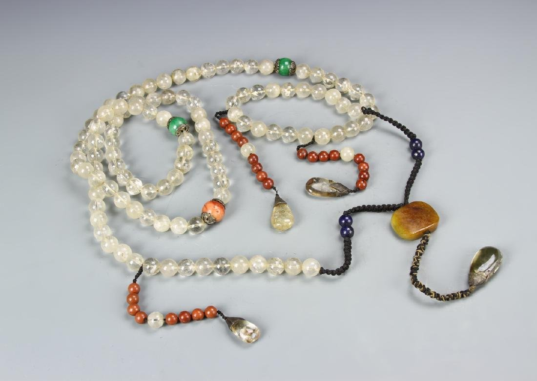 Chinese Beaded Court Necklace - 2