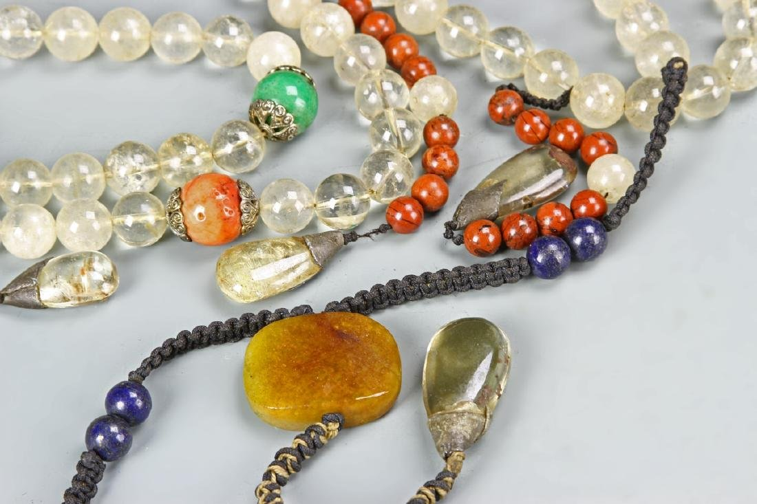 Chinese Beaded Court Necklace - 4