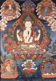 Chinese Tibetan Tangka