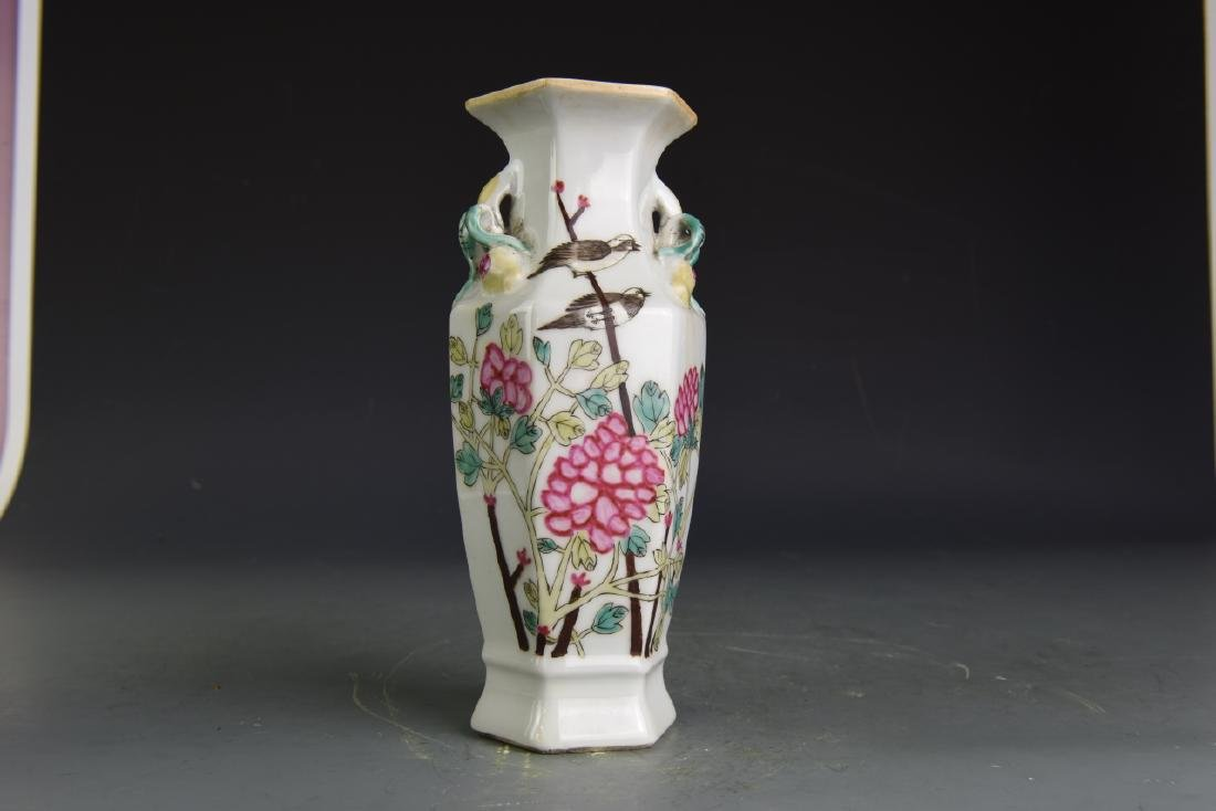 Pair of Chinese Famille Rose Vases - 10