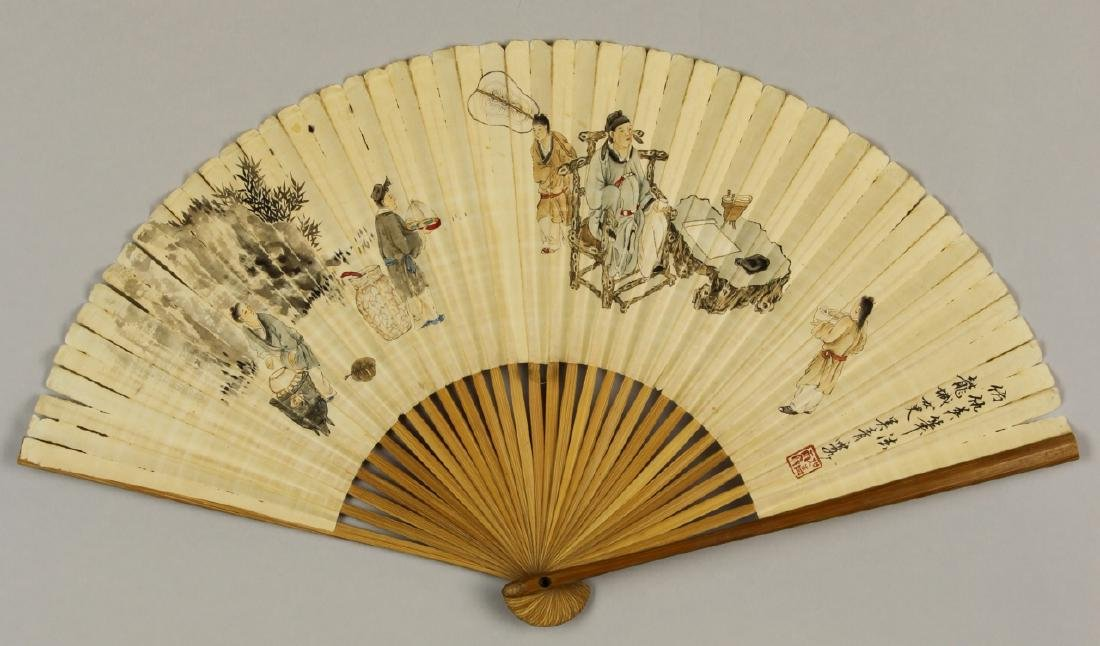 Chinese Fan Painting, Attributed to Wu Qing Lu