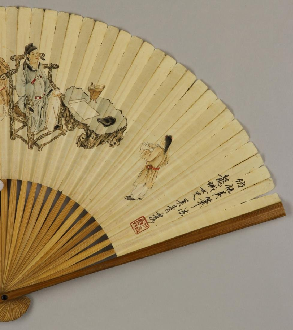 Chinese Fan Painting, Attributed to Wu Qing Lu - 2