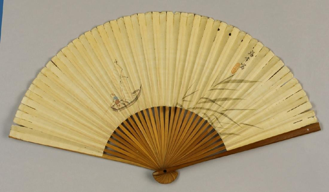 Chinese Fan Painting, Attributed to Wu Qing Lu - 4