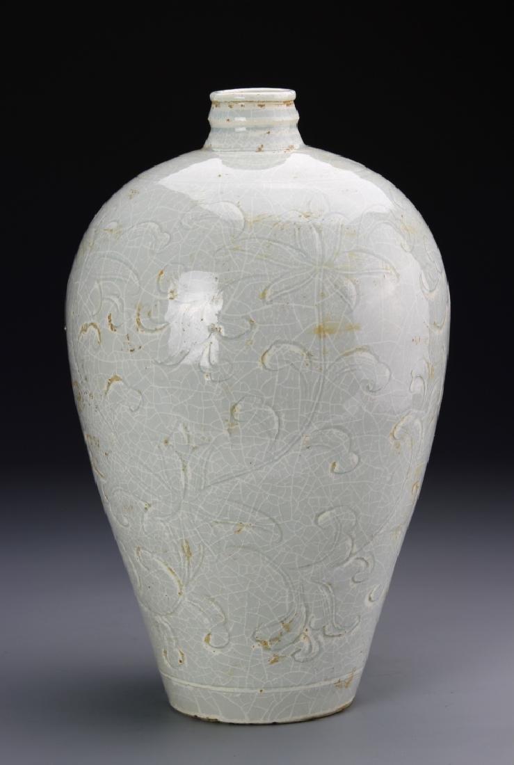 Chinese Celadon Glazed Meiping Vase