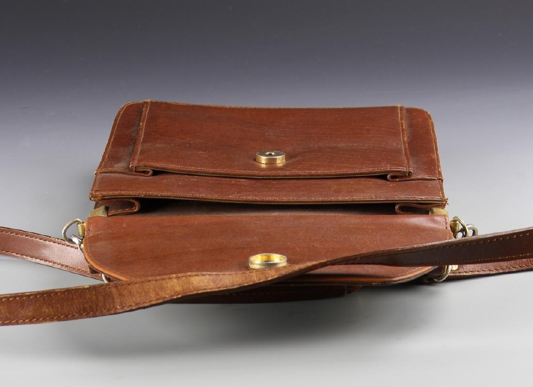 Vintage Lancome Leather Handbag - 2