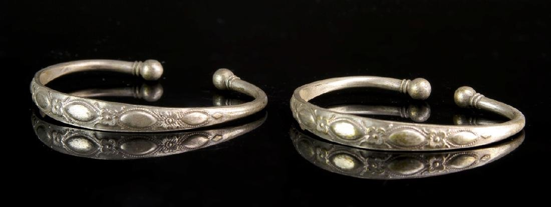 Pair of Chinese Silver Bangles
