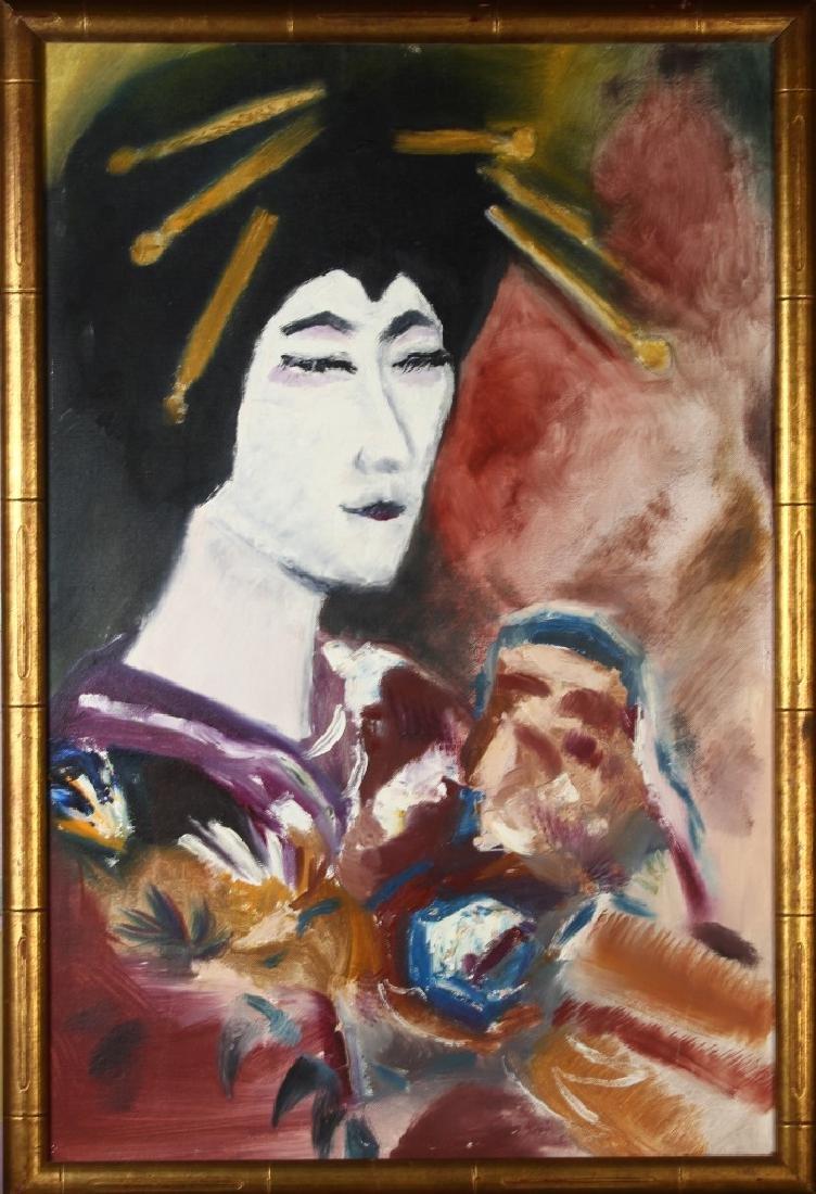 Oil On Canvas Of Gaisha Girl