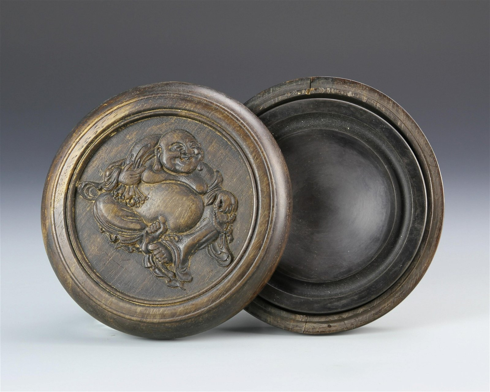 Chinese Ink Stone and Carved Box