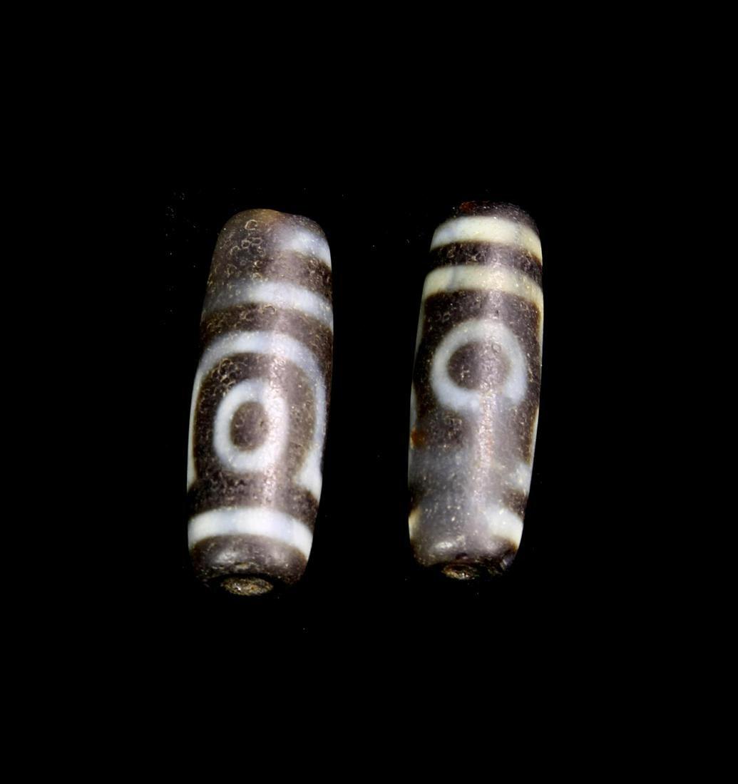 56624Tibetan Two Z Beads