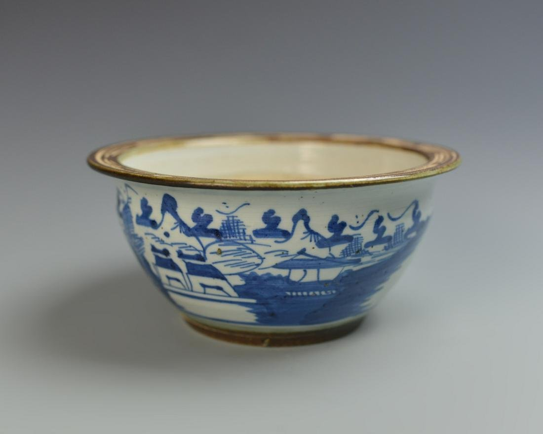 Chinese Export Blue and White Bowl