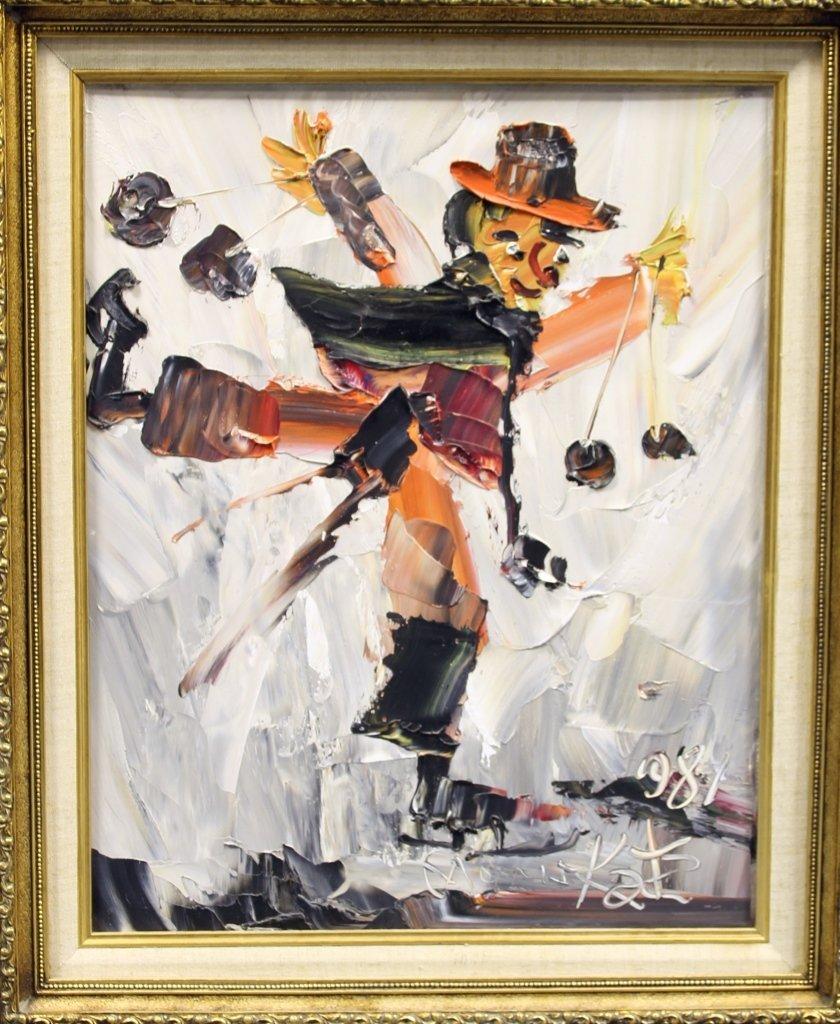 Oil on Board, Morris Katz