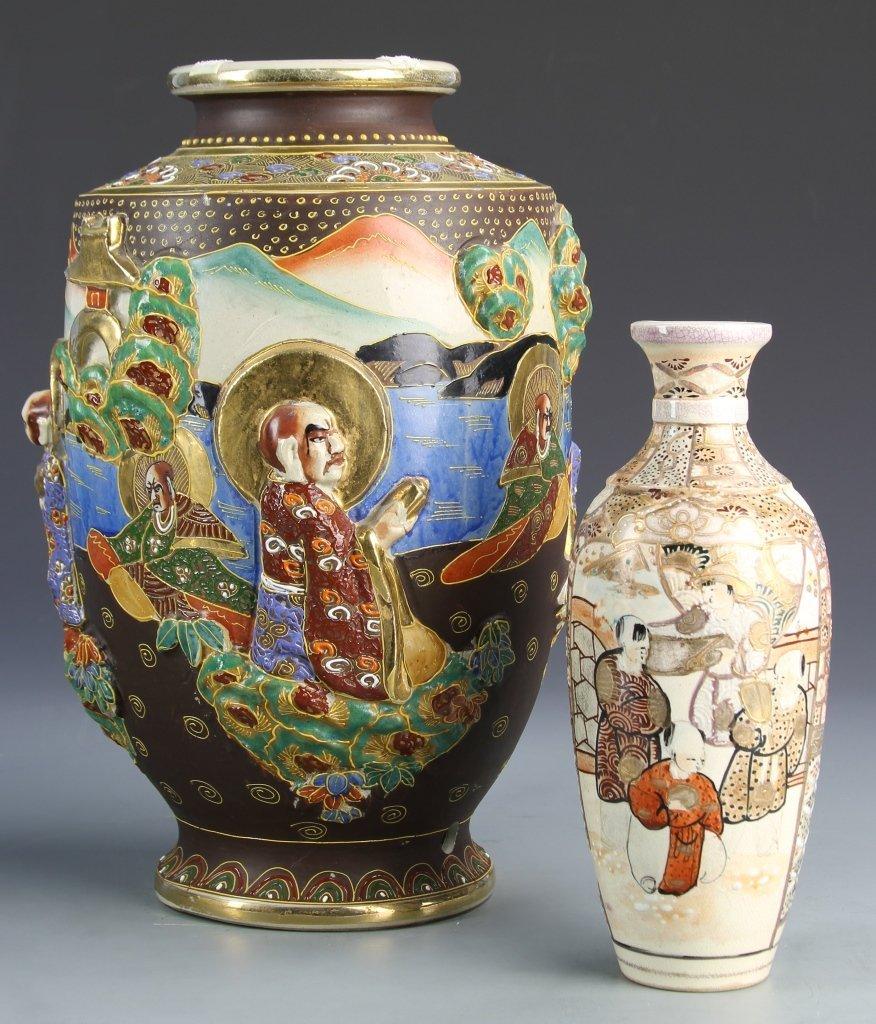 Two Japanese Satsuma Vases