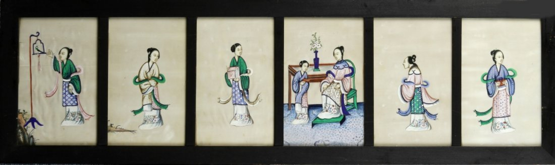 Chinese Rice Pitch Paper Painting