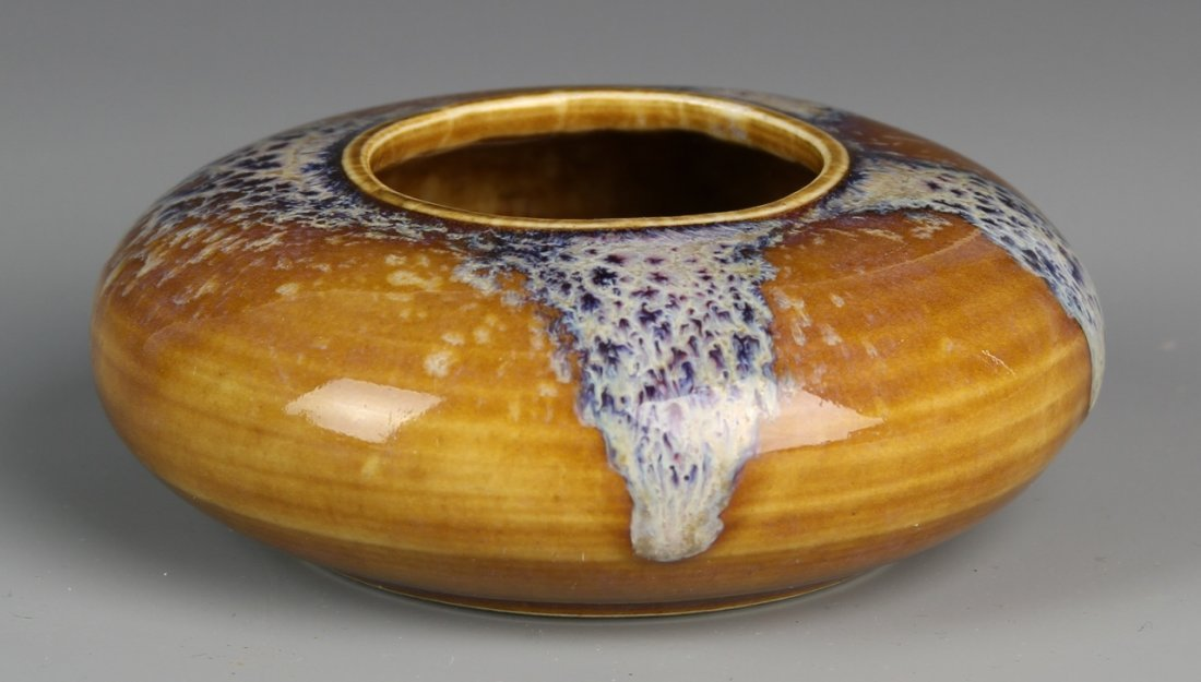 Chinese Brown-Glazed Brush Pot
